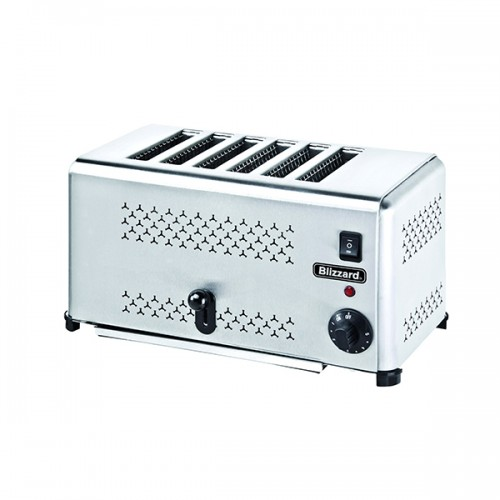 Stainless Steel 6 Slot Toaster 2500W