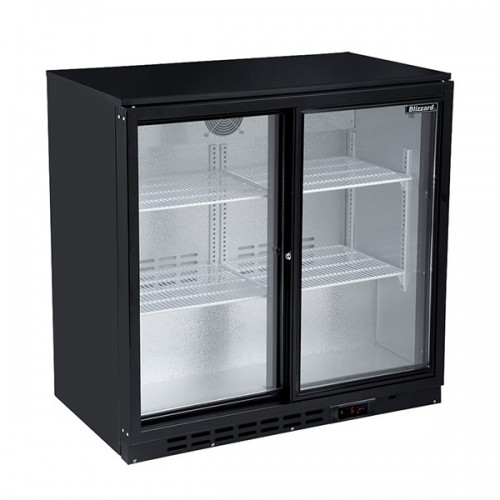 Double Sliding Door Bar Bottle Cooler (202 Bottles