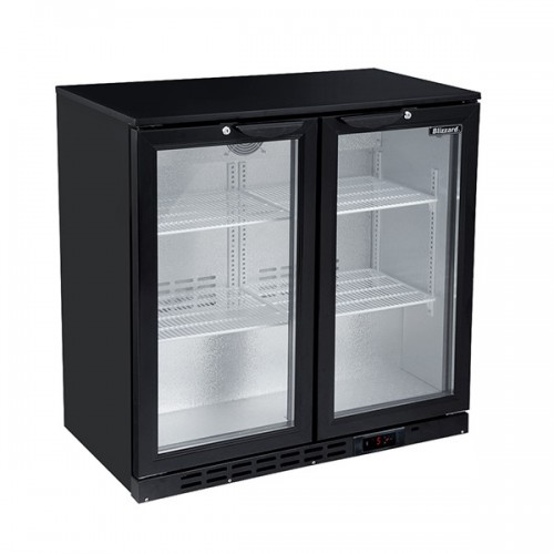 Double Door Bar Bottle Cooler (202 Bottles)
