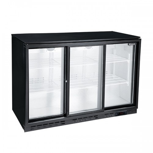 Triple Sliding Door Bar Bottle Cooler (338 Bottles