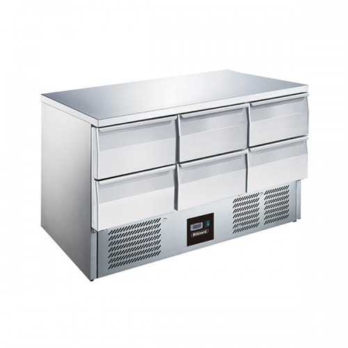 6 Drawer Compact Gastronorm Counter 368L