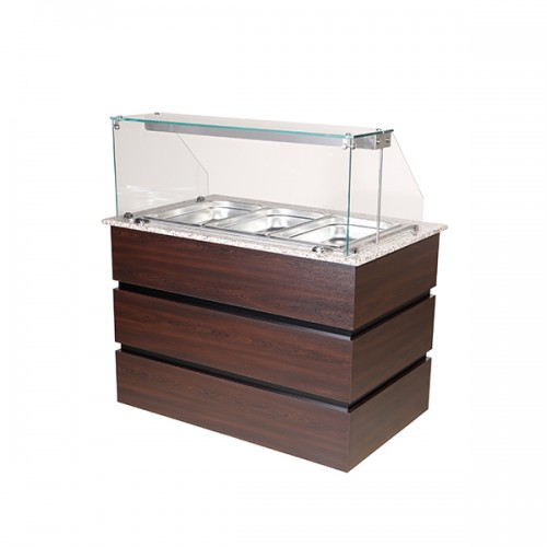 Flat Glass Display Counter 3x GN1/1