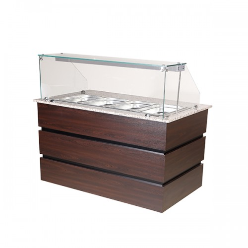 Flat Glass Display Counter 4x GN1/1