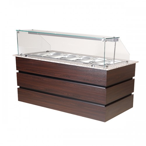 Flat Glass Display Counter 5x GN1/1
