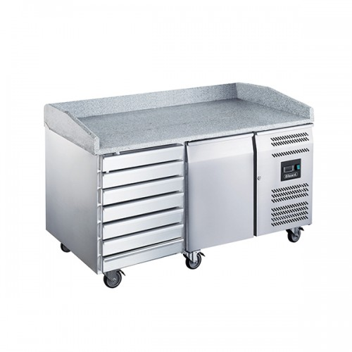 1 Dr Pizza Prep Counter with Neutral drawers 390L