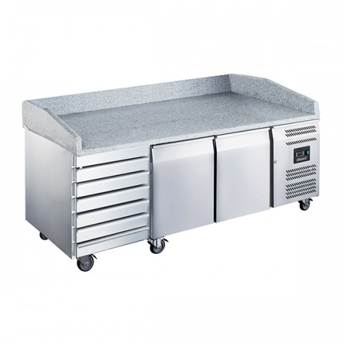 2 Dr Pizza Prep Counter with Neutral drawers 580L