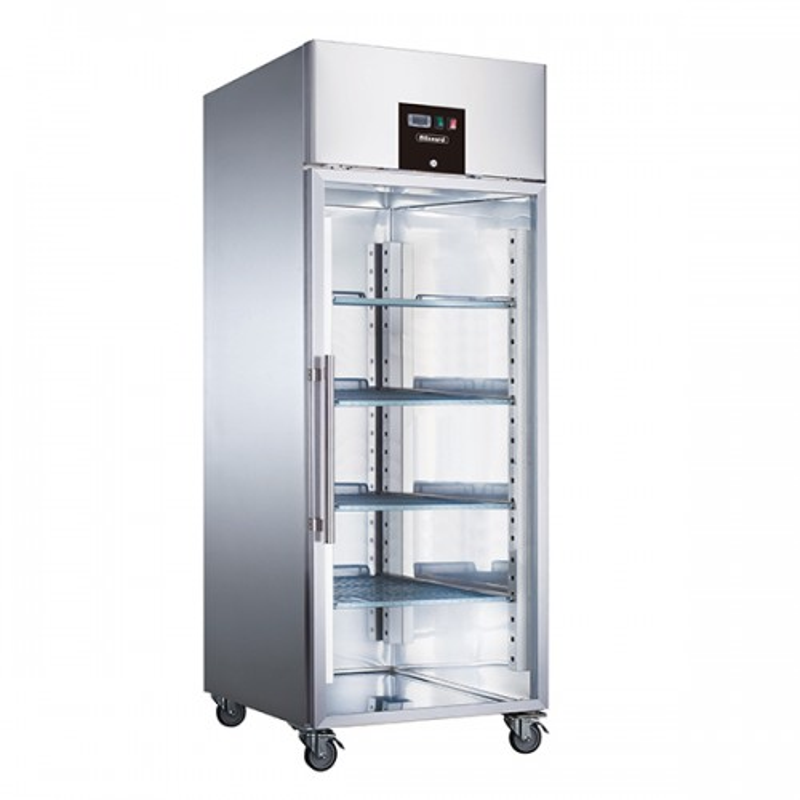 Single Glass Door Ventilated GN Refrigerator 650L