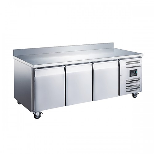 3 Door GN1/1 Counter with Upstand 417L