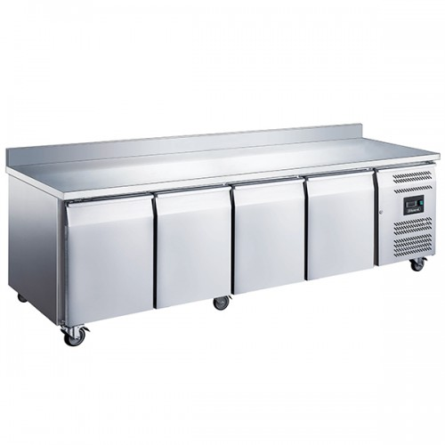 4 Door GN1/1 Counter with Upstand 553L