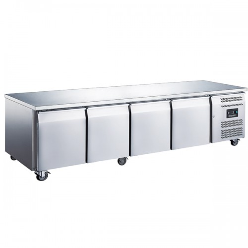 4 Door GN1/1 Freezer Counter Without Upstand 553L