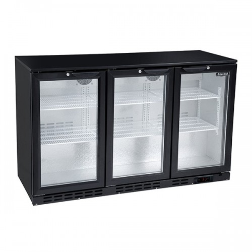 Triple Door Low Height Bar Bottle Cooler (276Btl)