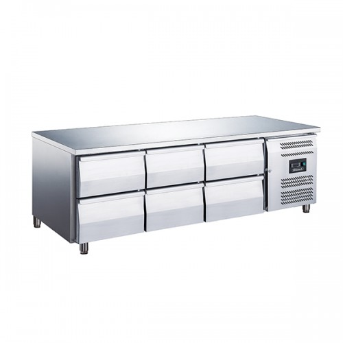 6 Drawer Low Height 650mm Snack Counter 317L