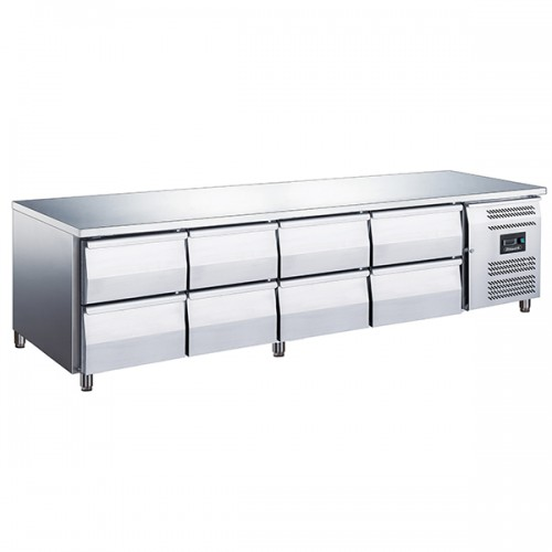 8 Drawer Low Height 650mm Snack Counter 420L