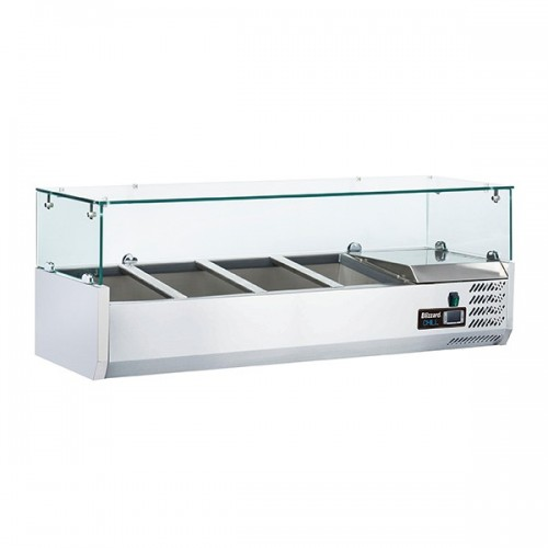 1/3 Gastronorm Prep Top with Glass Cover 1200mm(W)