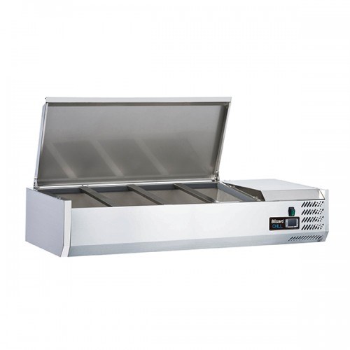 1/3 Gastronorm Prep Top with Hinged Lid 1200mm(W)