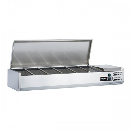 1/3 Gastronorm Prep Top with Hinged Lid 1500mm(W)