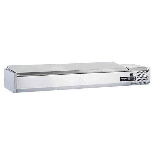 1/4 GASTRONORM PREP TOP WITH HINGED LID 2000MM(W)